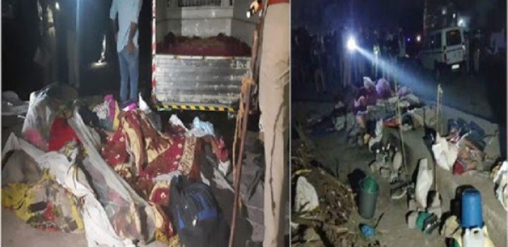 गुजरात में डम्फर ने सड़क किनारे सो रहे 20 प्रवासी मजदूरों को कुचला, 14 की मौत